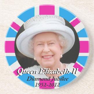 Queen Elizabeth portrait Diamond Jubilee coasters