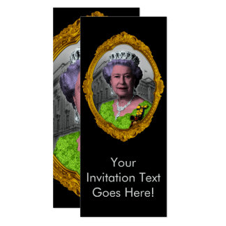 Queen Elizabeth Portrait in Frame Card