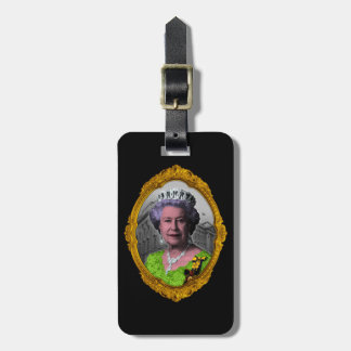 Queen Elizabeth Portrait in Frame Luggage Tag