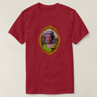 Queen Elizabeth Portrait in Frame T-Shirt