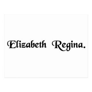Queen Elizabeth. Postcard