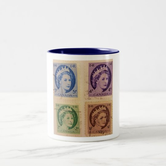 Queen Elizabeth Stamps Mug