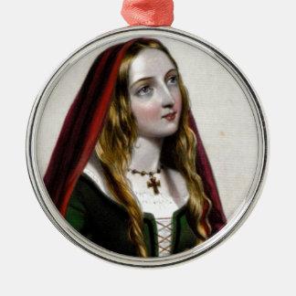 Queen Elizabeth Woodville Metal Ornament