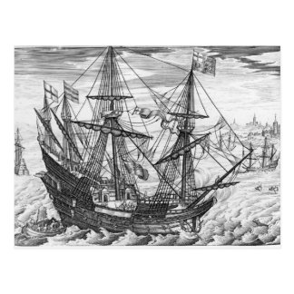 Queen Elizabeth's Galleon Postcard