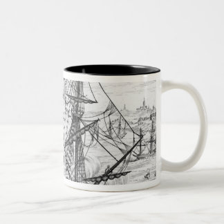 Queen Elizabeth's Galleon Two-Tone Coffee Mug