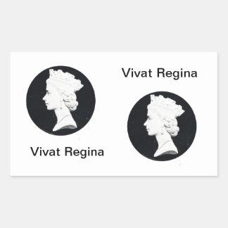 Queen Elizabzth II, Vivat regina Rectangular Sticker
