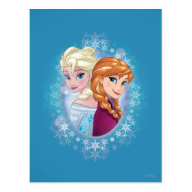 Queen Elsa and Princess Anna Postcard