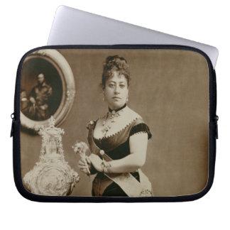 Queen Emma (1836-85) (sepia photograph) Laptop Sleeve