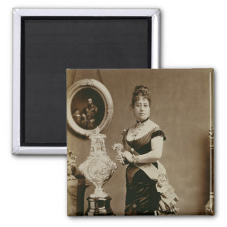 Queen Emma (1836-85) (sepia photograph) Magnet