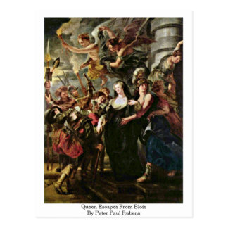 Queen Escapes From Blois By Peter Paul Rubens Postcard