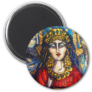 Queen Esther 2 Inch Round Magnet