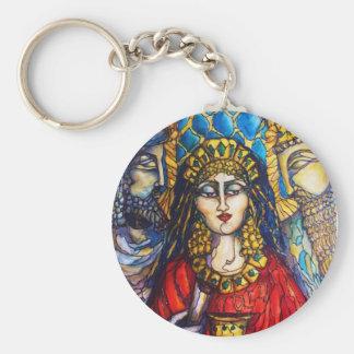 Queen Esther Basic Round Button Keychain