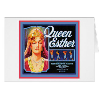 Queen Esther Vintage Crate Label Card