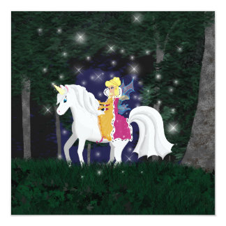 Queen Faery and Unicorn Forest Card