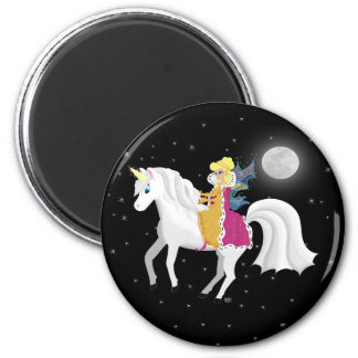 Queen Faery and Unicorn Magnets