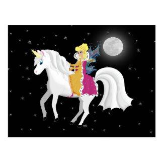 Queen Faery and Unicorn Postcard