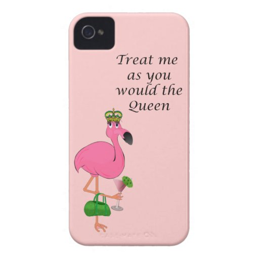 Queen Flamingo iPhone 4/4S Barely There Case iPhone 4 Case-Mate Cases