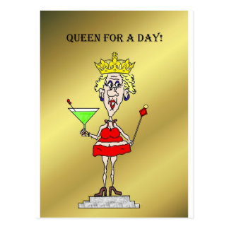 QUEEN FOR A DAY FUNNY HOT MAMA POST CARDS