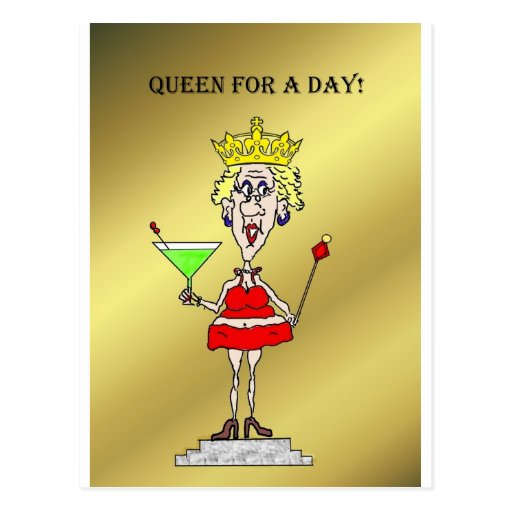 QUEEN FOR A DAY FUNNY HOT MAMA POSTCARD