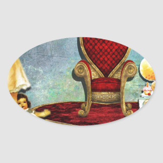 QUEEN FOR A DAY.jpg Oval Sticker