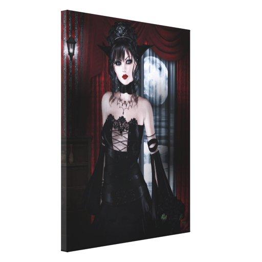 Queen for Eternity Vampire Gothic Girls Art Canvas Print