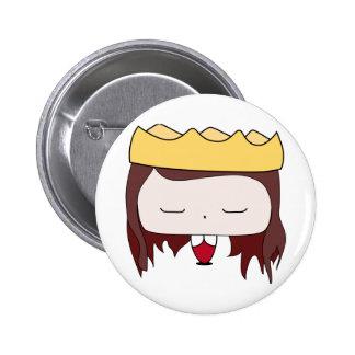 queen girl 2 inch round button