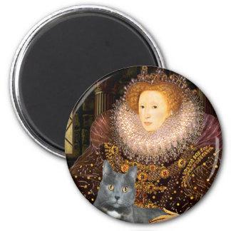 Queen - grey cat fridge magnets
