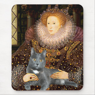 Queen - grey cat mouse pad