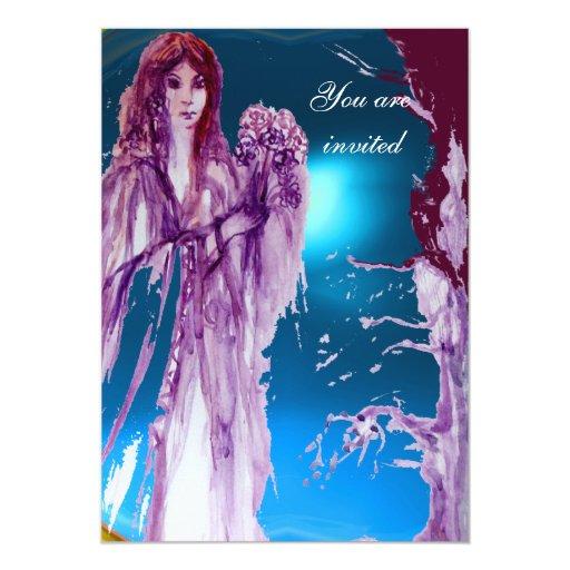 QUEEN GUINEVERE Aqua Blue,Teal 5x7 Paper Invitation Card