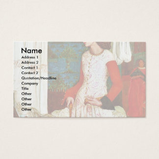 Queen Guinevere By William Morris (Best Quality) Business Card