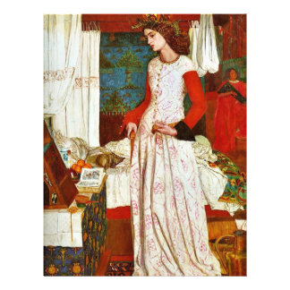 """Queen Guinevere By William Morris (Best Quality) 8.5"""" X 11"""" Flyer"""