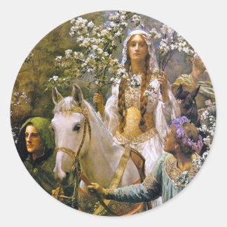 Queen Guinevere Classic Round Sticker