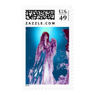 QUEEN GUINEVERE gem blue Postage Stamp