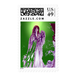 QUEEN GUINEVERE gem green Postage Stamps