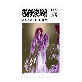 QUEEN GUINEVERE gem grey agate Stamps