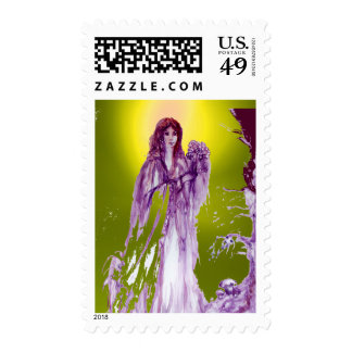 QUEEN GUINEVERE gem yellow Postage Stamps