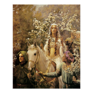 Queen Guinevere Maying Poster
