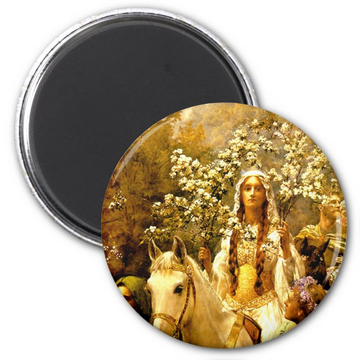 Queen Guinevere's Maying 2 Inch Round Magnet