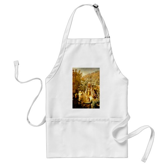 Queen Guinevere's Maying Adult Apron