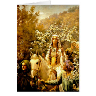 Queen Guinevere's Maying Card