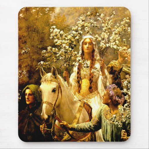 Queen Guinevere's Maying Mouse Pad