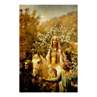 Queen Guinevere's Maying Poster