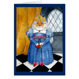 Queen Heather royal cat birthday greeting card