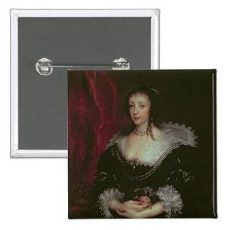 Queen Henrietta Maria Pinback Buttons