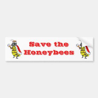 Queen Honeybee Diva Cartoon Bumper Sticker