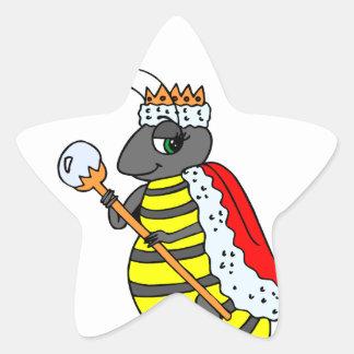 Queen Honeybee Diva Cartoon Star Sticker