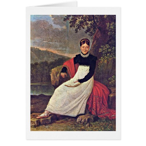 Queen In Tradiontal Costume By Giuseppe Cammarano Greeting Card