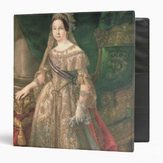 Queen Isabella II  1843 3 Ring Binder