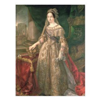 Queen Isabella II  1843 Postcard