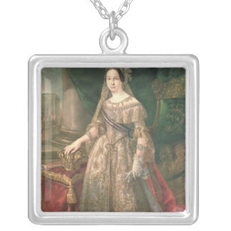 Queen Isabella II  1843 Silver Plated Necklace